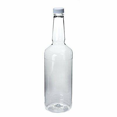 Dozen Long Neck Quart Plastic Bottles with Screw on Lids 2