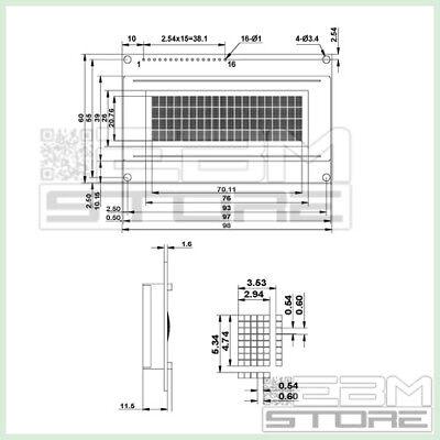 Display BLU 20x4 - lcd retroilluminato HD44780 arduino pic - ART. Z004 4