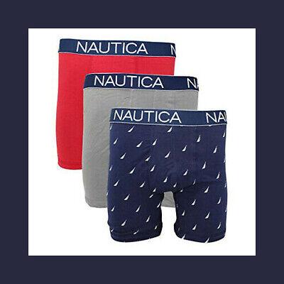 Nautica Men's 3 Pack of Assorted Stretch Boxer Briefs (Retail $50) 2
