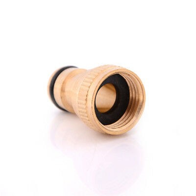 """1/2"""" Garden Brass Thread Hose Tap Adaptor Water Pipe Connector Tube Fitting 、LJ"""