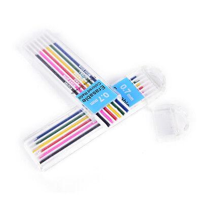 1 Box 0,5 mm farbige Druckbleistift Refill Blei löschbaren Studenten stationä yn