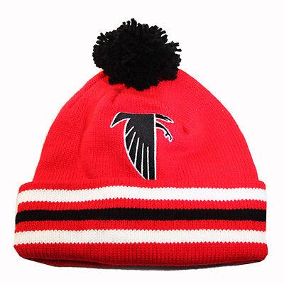 3b0bc2d1 MITCHELL & NESS NFL Cuffed Knit Pom Beanie Winter Hat Vintage Team Skully  Cap