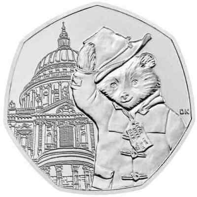 New 2019 Paddington Bear At The Cathedral.tower.station . Palace 50P Coin.albums 5