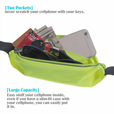 Sports Running Belt Waist Pocket Cycling Jogging Travel Wallet For Smart Phone 8
