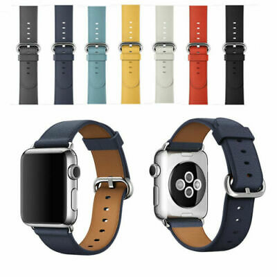 Leather Band Bracelet Strap For Apple Watch Series 4 3 2 1 38mm/40mm/42mm/44mm 9