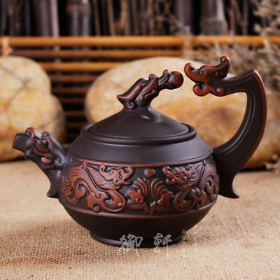 Rare Chinese handmade Lifelike Plum flower of yixing zisha Purple clay teapot