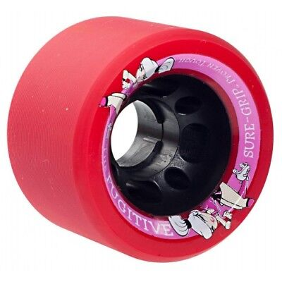 Sure-Grip Fugitive Quad Roller Skate Wheels Indoor Derby 62mm (Pack of 8)