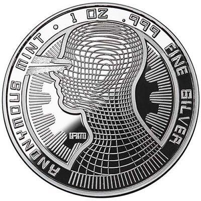 Bitcoin Guardian Proof 1 oz .999 fine Solid silver commemorative Digital AI Rare 7