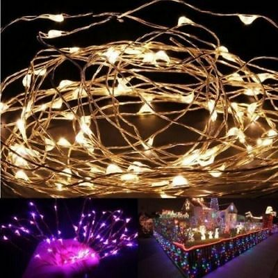 20/50/100 LEDs Battery Operated Mini LED Copper Wire String Fairy Lights 10M 3