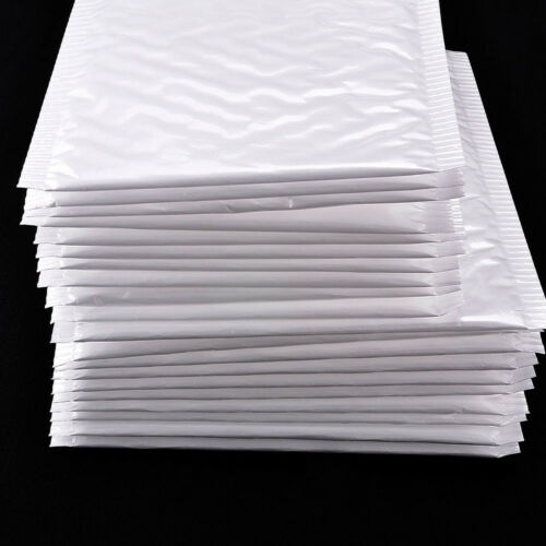 New Chic White Poly Bubble Mailers Padded Envelopes Self Seal Bag Shipping Bags 8