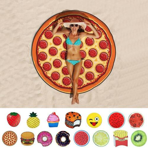 3D Pastel Donuts Redondo Grande Piscina Ducha Playa Chal Felpudo Manta BA99