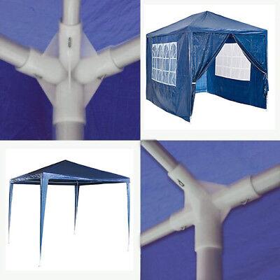 Gazebo 3x3M Heavy Duty Stronger Waterproof Fully Garden Canopy Tent With 4 Sides 10
