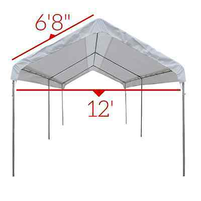 ... 14 X 20 Heavy Duty 12mil Valance Replacement Canopy Tarp Carport Cover -White  sc 1 st  PicClick & 14 X 20 Heavy Duty 12mil Valance Replacement Canopy Tarp Carport ...