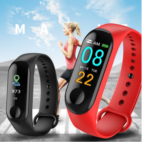 Smart Band Watch Bracelet Wristband Fitness Tracker Blood Pressure HeartRate M3s 12
