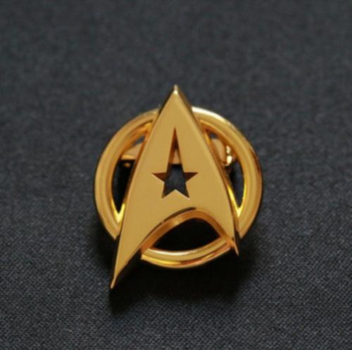 US! Star Trek Gold Plated Starfleet Communicator Brooch Badge Lapel Pin Fan Gift 3