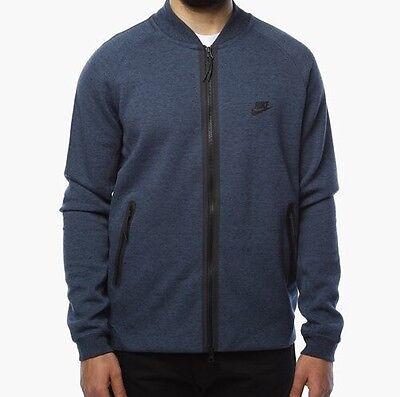 ab7285b963aa NIKE VESTE TECH Fleece Varsity Mens Jacket Blue Size S - EUR 89