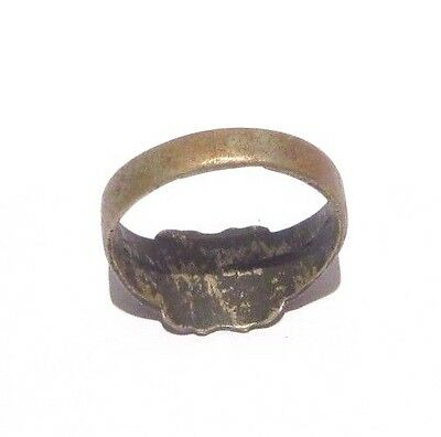 MARVELOUS TOP QUALITY BRONZE ANTIQUE 1900's PERSONAL RING,YEAR INSCRIBED # 698 6