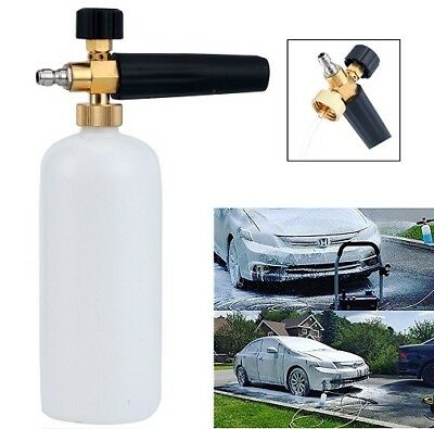 "1/4"" Quick Connector Pressure Snow Foam Lance Car Washer Bottle Gun Cannon Jet 10"