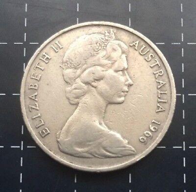 1966 Australian 20 Cent Coin 3