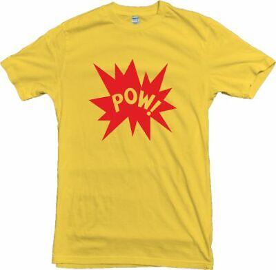 Pow! T-Shirt - Retro 60's, 70's, Pop Art, Comic Book Style, Various Colours 8