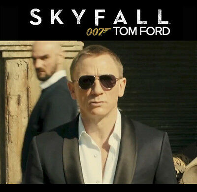 696dfa7c08f ... JAMES BOND 007 SKYFALL Blue TOM FORD Aviator Marko Sunglasses TF 144  18V FT 0144 5