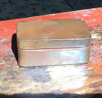 A Good Simple Scholar's Wooden Seal Box Original Lacquer And Calligraphy Chinese