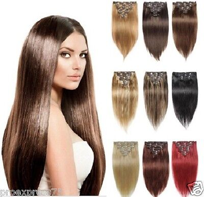 Kit Extensions A Clips Cheveux 100% Naturels Remy Hair 64G 85G 125G 42,49,60 Cm