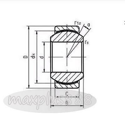 1pc GEBK10S Spherical Plain Radial Bearing 10x26x14mm New