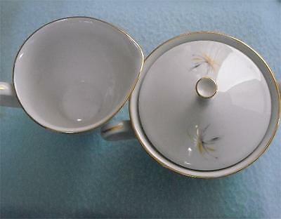 hutschenreuther arzberg creamer sugar bowl vintage germany bavaria mcm. Black Bedroom Furniture Sets. Home Design Ideas