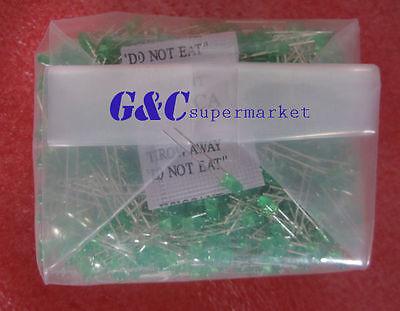 100PCS Diffused LED 3MM GREEN COLOR GREEN LIGHT Super Bright
