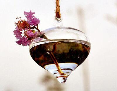 Creative Hanging Glass Flower Planter Vase Terrarium Container Home Garden Decor