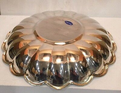 "Silverplate Round Bowl Plate Server Read & Barton # 109 13"" Diameter 1 1/2"" Tall 6"
