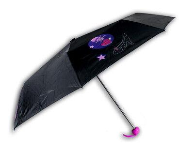 Ombrello piccolo bambina rosa nero mondo di patty pioggia custodia laccio bimba 2