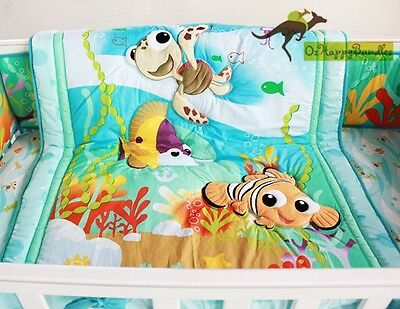 New Baby Boys 11 Pieces Cotton Nursery Bedding Crib Cot Sets-- Blue Ocean