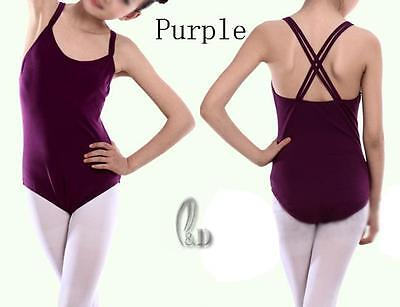 Au Stock Girls Adults Cotton Tank Dance Ballet Gymnastics Leotard Da006