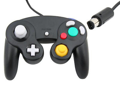 2 x Black Wired Controller for Nintendo GameCube GC & Wii Console Classic Joypad 2
