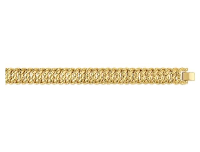 Or Gourmette 18 Bracelet Américaine Carats Maille Femme 7501000 Bijoux Plaqué OXPZiuTk