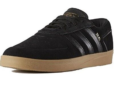 Details about Adidas SILAS VULC ADV Black Gold Metallic Casual Skate S86026 (341) Men's Shoes