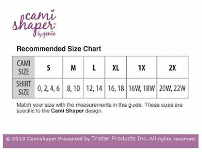 Genie 3 in 1 Cami Shaper w/ Built-in Bra Seamless Shaping Camisole ( Pack of 1 ) 2