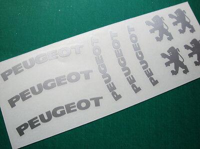 PEUGEOT HI-TEMP Premium brake caliper Decals Stickers En Vinyle 206 207 307 GT