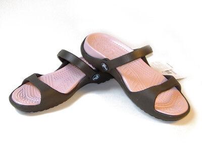 Crocs Cleo Chocolate Cotton Candy 4 5 6 7 8 9 10 11 12