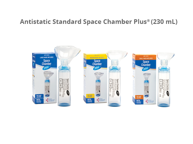 Compact Space Chamber plus, inhaler spacer device (CHOOSE MASK SIZE)