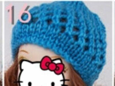 Doll Accessories Warm Winter Headwear Hairwear Woven Knitting Hat For 1/6 Doll 4