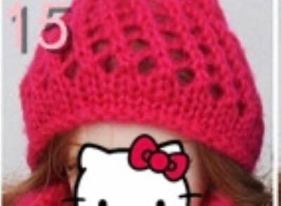 Doll Accessories Warm Winter Headwear Hairwear Woven Knitting Hat For 1/6 Doll 3