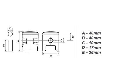 40 mm Zylinder /& Kolben für Timbertech Horn BC BC52 BC520 Motorsense DEMON