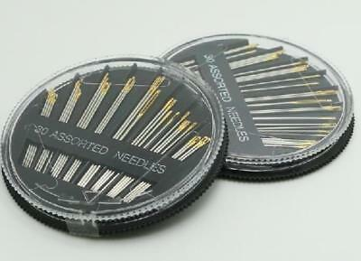 Assorted Hand Sewing NEEDLES -  Embroidery Mending Craft Quilt Case Sew 30pcs UK 2