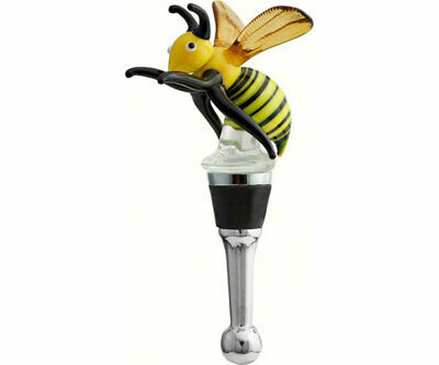 Collectible Blown Glass Creatures Bottle Stopper -  Bee - Bs-399 12