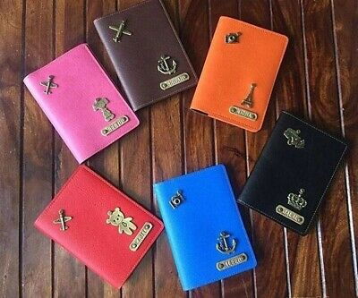 Personalised Leather Passport Cover Holder With Free Tag Name And Charm 11