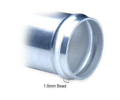ALUMINIUM ALLOY HOSE Joiners - Silicone Pipe Metal Connector Swaged Beaded  Long
