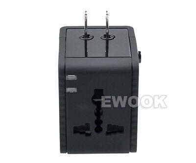 Universal Travel Adapter Dual 2 USB Plug Charger AC Power UK US EU AU 4